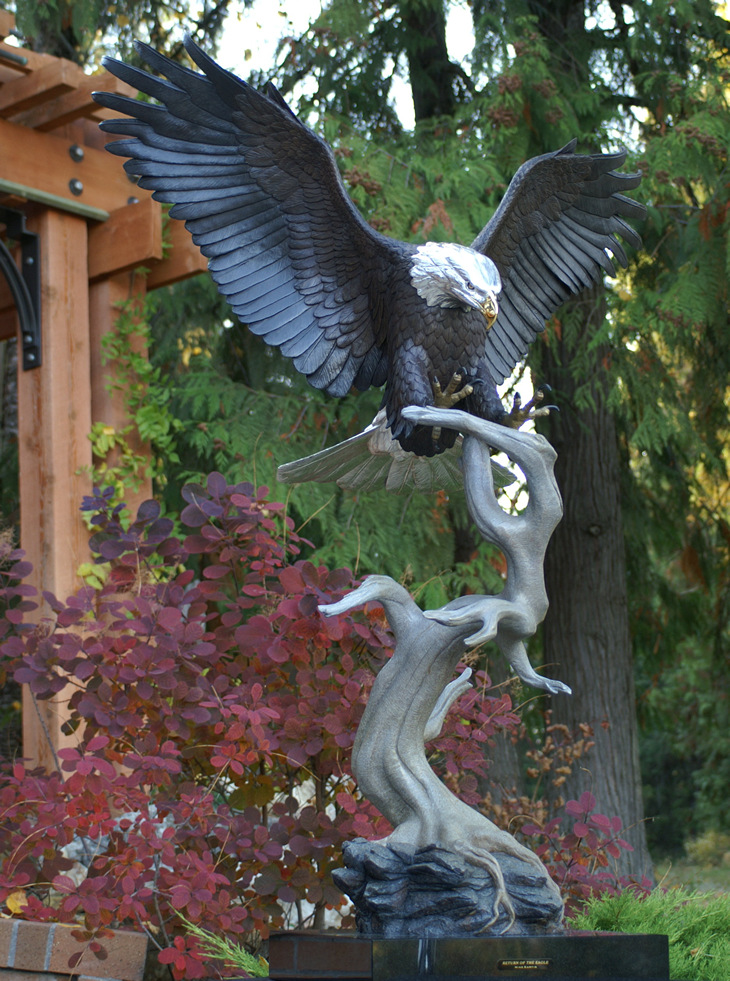 Return Of The Eagle Bronze Bald Eagle Sculpture By Mike