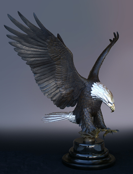 The Tribute Eagle - click image for larger size